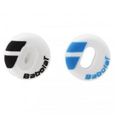 Antivibrateur Babolat Custom Damp Blanc/Noir Blanc/Bleu