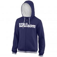 Veste à capuche Wilson Script Cotton FZ Bleu Printemps Été 2018