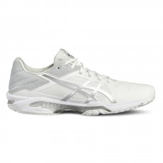 Chaussure Asics Gel Solution Speed 3 Blanc Argent SS18