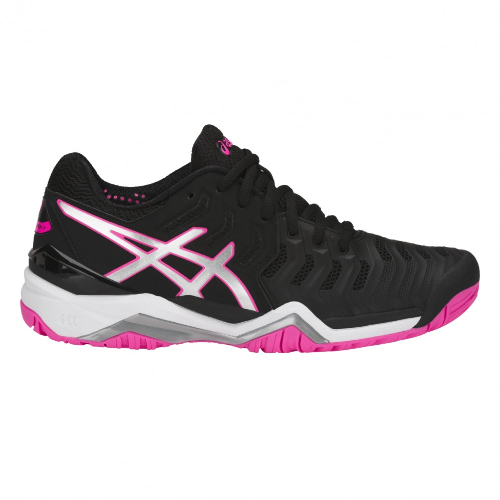 12491941d0227 Asics Gel Resolution 7 Donna Black Pink SS18 - Extreme-Tennis