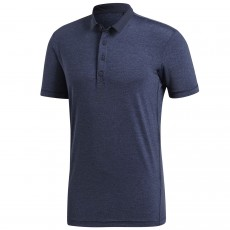 Polo Adidas Heathered Legend Ink Blue