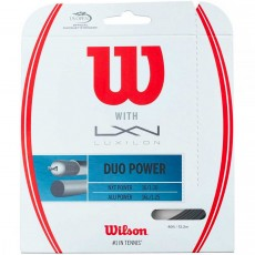 Hybride Wilson Duo Power 125 Luxilon Alu Power + Wilson Nxt Power