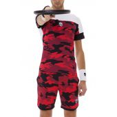 T Shirt Hydrogen Tech Camo Red