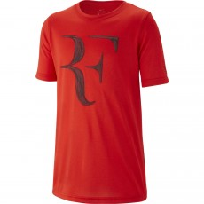 T Shirt Nike Junior Roger Federer Rouge Eté 2018