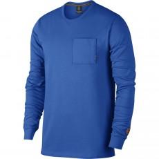 T Shirt Nike Longues Manches Nikecourt Heritage Bleu 2018