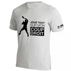 T Shirt Extreme-Tennis Coton Gris Coup Droit... Illustration