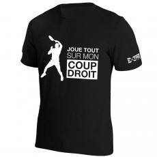 T Shirt Extreme-Tennis Coton Noir Coup Droit... Illustration