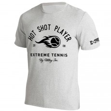 T Shirt Extreme-Tennis Coton Gris Hot Shot Player