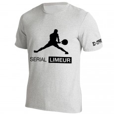 T Shirt Extreme-Tennis Coton Gris Serial Limeur Illustration