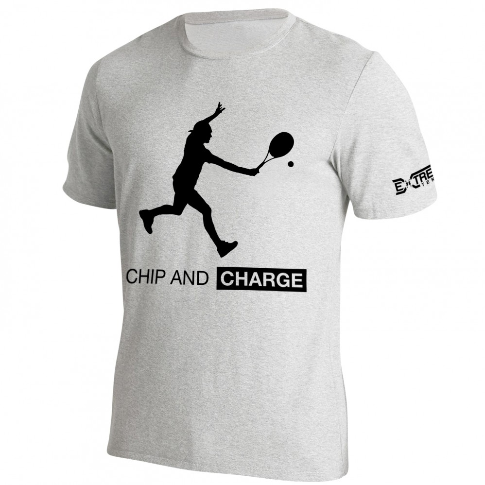T Shirt Extreme-Tennis Coton Gris Chip And Charge