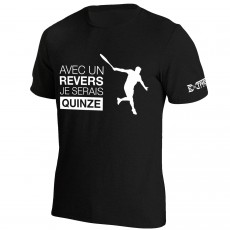 T Shirt Extreme-Tennis Coton Noir Avec un revers... Illustration