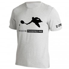 T Shirt Extreme-Tennis Coton Gris Vous ne passerez pas