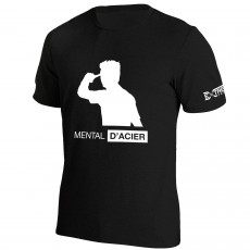 T Shirt Extreme-Tennis Junior Coton Noir Mental D'acier