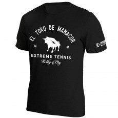 T Shirt Extreme-Tennis Junior Coton Noir Toro de Manacor