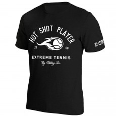 T Shirt Extreme-Tennis Junior Coton Noir Hot Shot Player