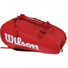 SAC DE TENNIS WILSON SUPER TOUR 2 COMP LARGE RED