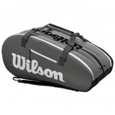 SAC DE TENNIS WILSON SUPER TOUR 3 COMP BLACK GREY