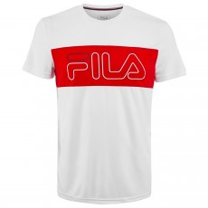 T Shirt Fila Rudi Blanc / Rouge