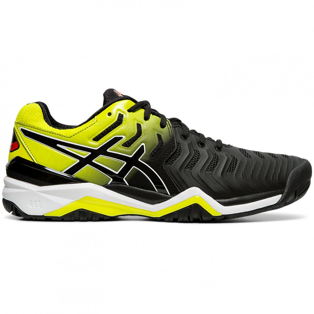 Chaussure Asics Gel Resolution 7 Black Sour Yuzu FW19