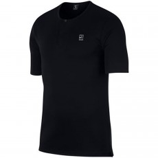 T Shirt Nike Henley Black Summer 2018