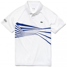 Polo Lacoste Djokovic White Indian Wells Miami 2019