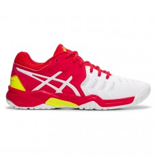 Asics Gel Resolution 7 GS Junior White / Laser Pink FW19