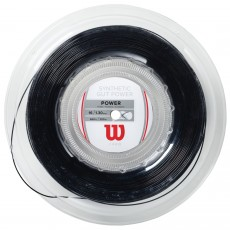 Wilson Synthetic Gut Power Black 200m Reel