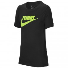 T Shirt Nike Junior Tennis Swoosh Noir