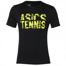 T Shirt Asics Tennis Practice Black