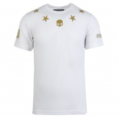 T Shirt Hydrogen Tech Stars US OPEN White Gold