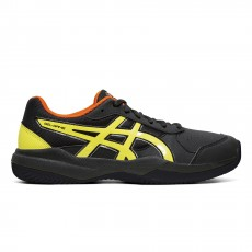 Chaussure Asics Court Gel Game 7 GS Junior Clay Black / Sour Yuzu FW19