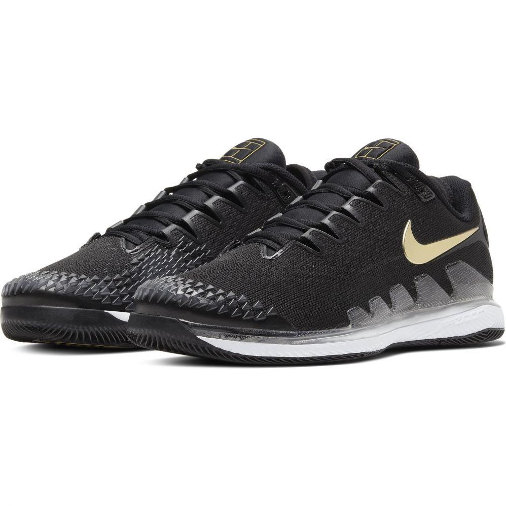 Chaussure de Tennis Nike Zoom Vapor X Knit Noir Or Hiver 2019