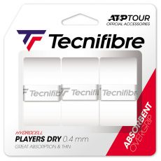 Tecnifibre Players Dry Overgrips x 3 White