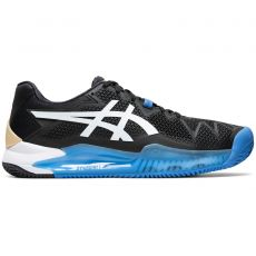 Chaussure Asics Gel Resolution 8 Clay Black White SS20
