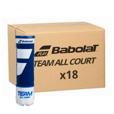 Carton 18 Tubes de 4 balles Babolat Team All Court