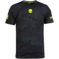 T Shirt Hydrogen Tech Camo Black Yellow