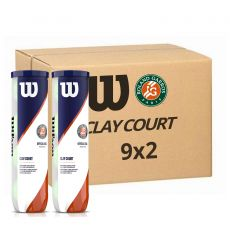 Box of 18 cans of 4 balls Wilson Rolland Garros Clay