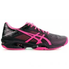 Chaussure Asics Gel Solution Speed 3 Black Pink