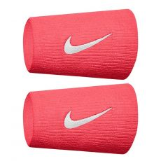 Serre-Poignets tennis Nike Swoosh double largeur red white x2