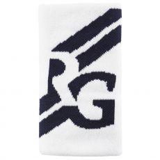 Serre-Poignet Roland Garros Double Largeur Blanc / Bleu Marine x 1