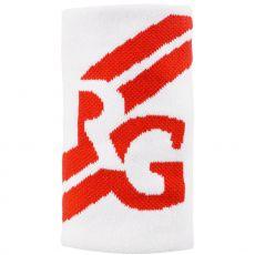 Serre-Poignet Roland Garros Double Largeur Blanc / Orange Terre Battue x 1