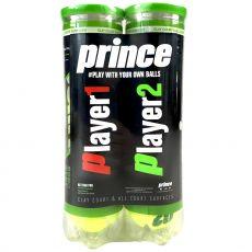 Balles Prince NX Tour x4 Bi Pack