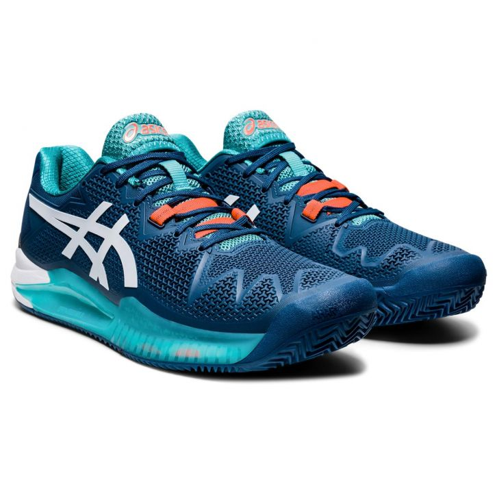 Asics Gel Resolution 8 Clay Mako Blue / White Shoes