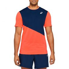 T Shirt Asics Tennis Club Coral / Peacoat