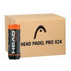 Carton de 24 tubes de 3 Balles Head Padel Pro