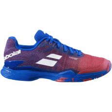 Chaussure Babolat Jet Mach 2 All Court Poppy Red / Estate Blue