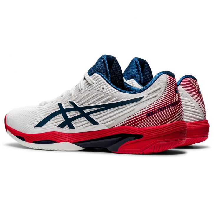 Asics Solution Speed FF 2 White / Blue / Red Shoes