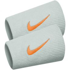 Wristbands Nike Swoosh Double Largeur Noir x 2