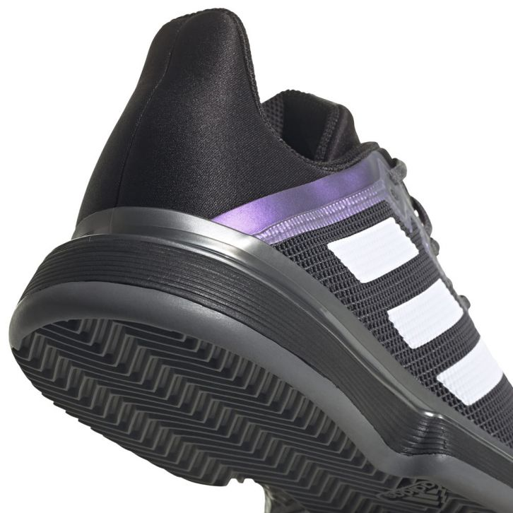 Chaussure Adidas SoleMatch Bounce Clay Noir / Violet