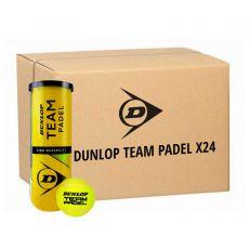 Carton de 24 tubes de 3 Balles Dunlop Team Padel